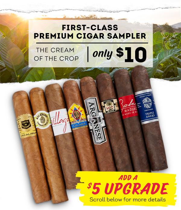 8 First-Class Premium Cigar Sampler $10