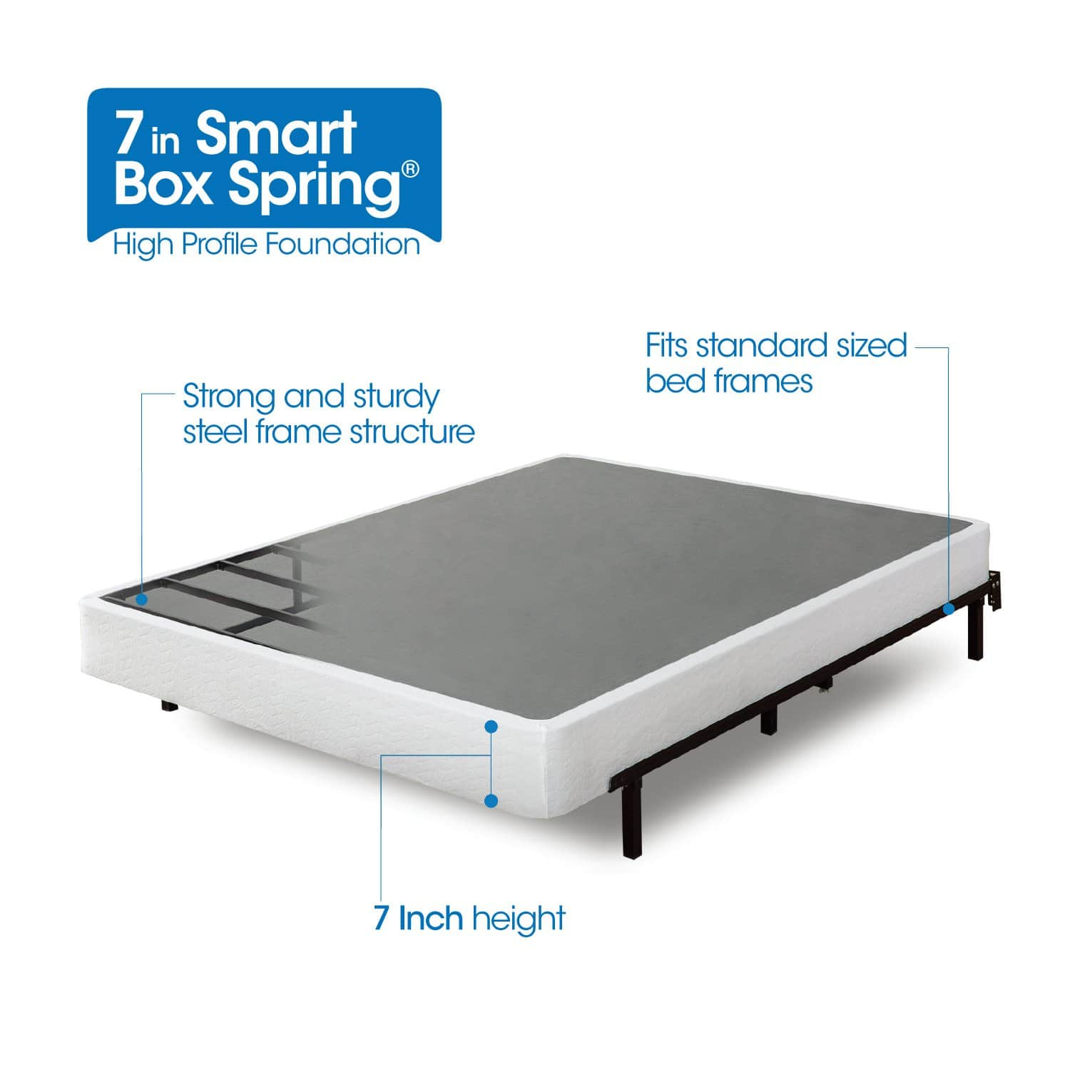 Zinus Armita 7 Inch Smart Box Spring / Mattress Foundation / Strong Steel Structure / Easy assembly Required, King $95.99