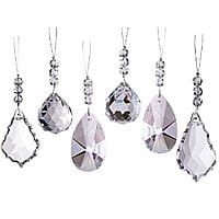 Amazon Deal: Set of 6 Sparkling Diamond Cut Crystal Christmas Ornaments - $7 AC Amazon FS