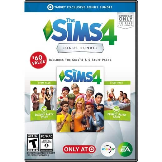 The Sims 4 Bonus Bundle - PC Game - includes Full Game, Luxury Party & Perfect Patio Stuff Packs $24.99