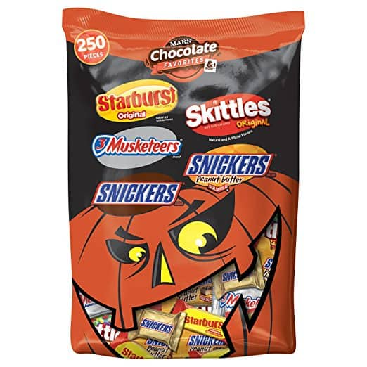 MARS Chocolate & More Halloween Candy Variety Mix 95.1-Ounce 250-Piece Bag now $9.99