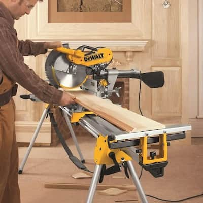 DEWALT 12-in 15-Amp Dual Bevel Sliding Compound Miter Saw + Dewalt Work Stand $349