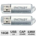 16 GB Patriot Xporter Pulse USB 2.0 Flash Drive (2 Pack) for $6.99 AC AR or 16 GB Patriot LX Series Class 10 SDHC Memory Card (3 Pack) for $14.99 AC AR + FS @ TigerDirect.com