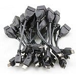 "2-Pack of 4"" Black USB 2.0 to Micro USB OTG Adapter Cables for $0.49 Shipped @ DD4.com [or $0.99 each at Frys B&M]"