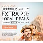 Extra 20% off Local Deals (up to 3 uses) @ Groupon.com - Valid thru 08/06/15 (Max Discount: $50.00)