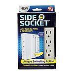 6-Outlet All Star Side Socket Power Strip  Free after Rebate & More + S&H