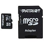 64 GB Patriot Signature Class 10 UHS-1 OEM microSDXC Flash Card for $17.98 AC, 32 GB ADATA UC340 USB 3.0 Flash Drive for $9.95 AC & More @ Newegg.com