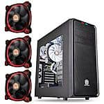 Thermaltake Versa H35 Mid-Tower Windowed Computer Case & 3-Pack Thermaltake 120mm Riing 12 Red LED Case Fans for $29.99 AR & More + Free Shipping @ TigerDirect.com