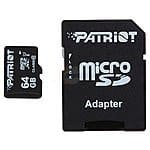 64 GB Patriot Signature Class 10 UHS-1 OEM MicroSDXC Card for $17.98 AC or 128 GB PNY High Performance Class 10 UHS-1 microSDXC Card for $48.98 AC + Free Shipping @ Newegg.com