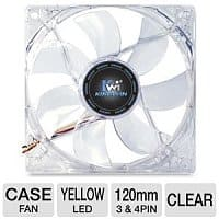 TigerDirect Deal: Kingwin CFY-012LB 120mm Yellow LED Case Fan - Free After Rebate + S&H @ TigerDirect.com