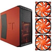 TigerDirect Deal: Corsair Graphite Series 230T Orange & Black Mid Tower Case & 3-Pack of 120mm Cougar Vortex Orange HDB Case Fans (CFV12H) Bundle - $59.99 AR (or less) + FS @ TigerDirect.com