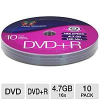 TigerDirect Deal: Color Research 10-Pack of 16X 4.7 GB DVD+R Discs (C18-42011) & Memorex OptiCloth Microfiber CD/DVD Cleaning Cloth (08005) - Free After Rebate + S&H @ TigerDirect.com