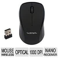 TigerDirect Deal: Ultra 2.4 GHz 3-Button 1000 DPI Black Wireless Optical Mouse (U12-43088) for Free After Rebate + S&H & More @ TigerDirect.com