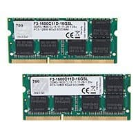 Newegg Deal: 16 GB (2 x 8 GB) G.SKILL 204-Pin DDR3L 1600 (PC3L 12800) CL 11 1.35V Laptop Memory Kit (F3-1600C11D-16GSL) for $89.99 & More + Free Shipping @ Newegg.com