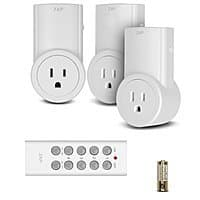 Amazon Deal: Etekcity 3-Pack of Wireless Remote Controlled Electrical Switch Socket Outlet with Remote for $13.99 AC & More + FSSS or FS w/ Prime @ Amazon.com