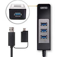Amazon Deal: Unitek 4-Port Bus-Powered OTG USB 3.0 Hub with Built-In 1 Ft. USB 3.0 Cable for $7.99 AC & More + FSSS or FS w/ Prime @ Amazon.com