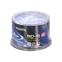 Newegg Deal: Optical Media: 50-Pack RiDATA 25 GB 4X Inkjet Printable BD-R Media Spindle (BDR-254-RDIWN-CB50) for $14.99 AC & More + Free Shipping@ Newegg.com