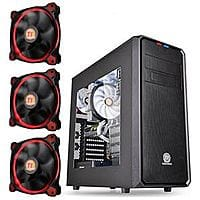 TigerDirect Deal: Thermaltake Versa H35 Mid-Tower Windowed Computer Case & 3-Pack Thermaltake 120mm Riing 12 Red LED Case Fans for $29.99 AR & More + Free Shipping @ TigerDirect.com