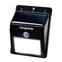 Amazon Deal: CozyPony Solar Powered 8 LED Wireless Outdoor Security Motion Sensor Light for $9.99 AC for 1 (or less) + FSSS or FS w/ Prime @ Amazon.com