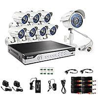 Zmodo 8-Channel DVR Security System with 8 x 700TVL Night Vision Outdoor Cameras (KHI8-YARUZ8ZN) for $  124.99 AC + Free Shipping @ Newegg.com