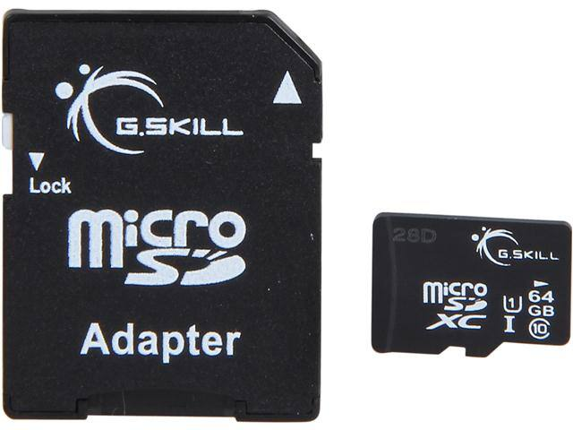 Flash Memory: 64 GB G.SKILL Class 10 UHS-1 microSDXC Flash Card for $18.92 AC, 32 GB ADATA UC340 USB 3.0 Flash Drive for $9.95 AC & More @ Newegg.com