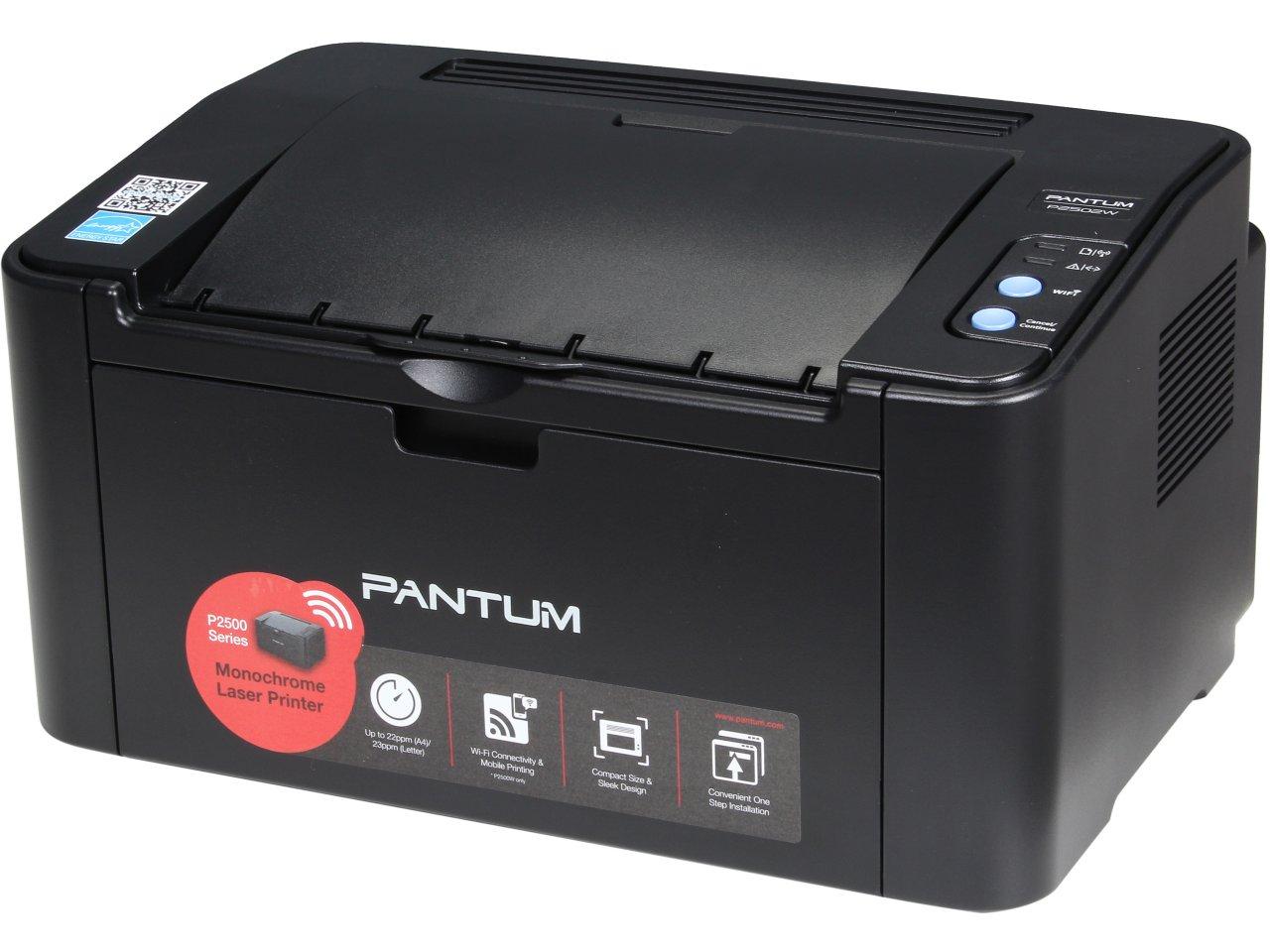 Pantum P2502W 1200 x 1200 dpi USB/Wireless Monochrome Laser Printer for $29.99 AC + Free Shipping @ Newegg.com