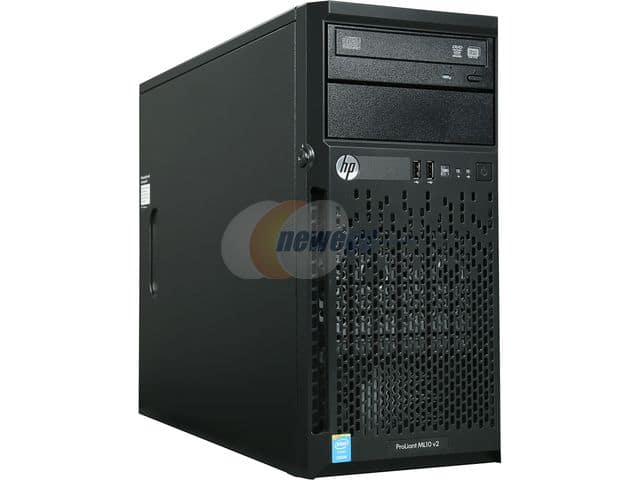 Servers: HP ProLiant ML10 v2 Tower Server with Intel Xeon E3-1220v3 3.1 GHz Quad-Core Processor, 4 GB DDR3L-1600 RAM, 350W PSU, DVD-RW Drive for $274.99 & More @ Newegg.com