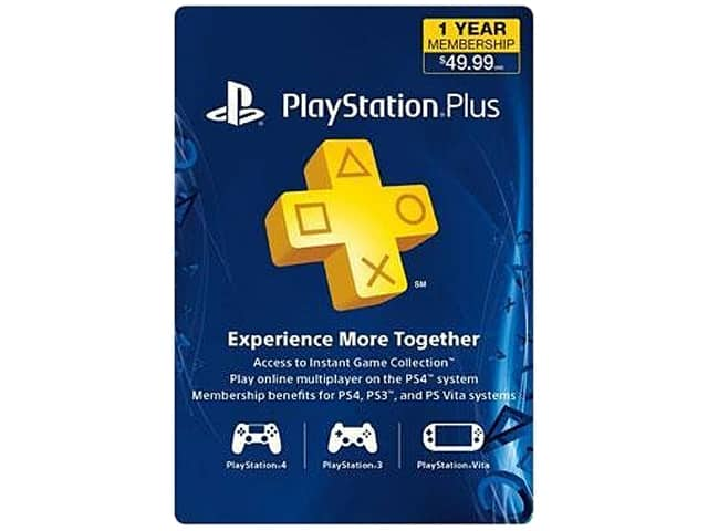 1-Year Sony PlayStation Plus Membership + Konami Pro Evolution Soccer 2015 (PS4) for $39.99, Plantronics GameCom 818 Wireless Gaming Headset (PS4) for $29.99 AC & More @ Newegg.com