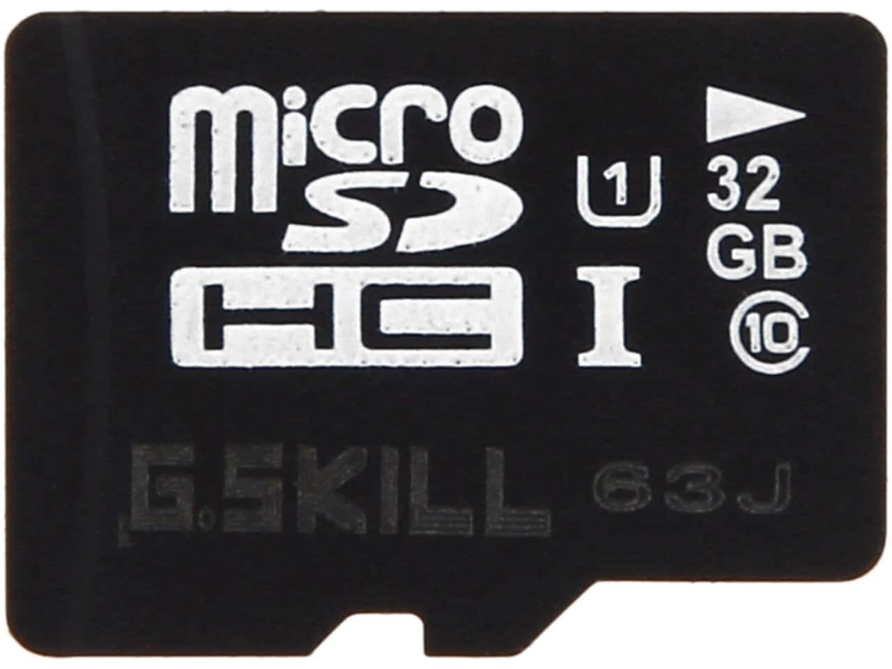 32 GB G.SKILL Class 10 UHS-1 microSDHC Flash Card or 32 GB ADATA DashDrive UV128 Black & Blue USB 3.0 Flash Drive for $6.99 AC + S&H @ Newegg.com
