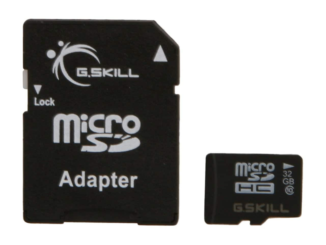 32 GB G.SKILL Class 10 UHS-1 microSDHC Flash Card with Adapter for $7.99 AC + Free Shipping @ Newegg.com