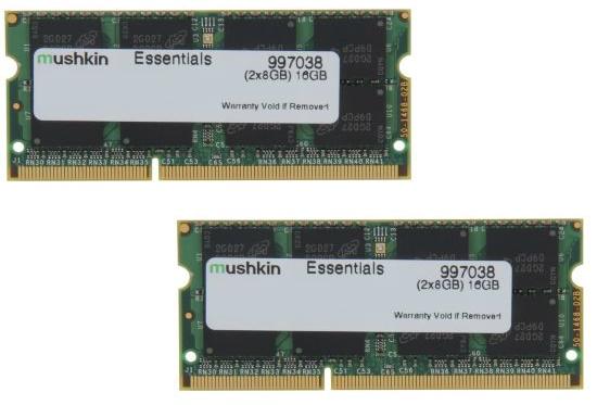 16 GB (2 x 8 GB) Mushkin Enhanced Essentials DDR3L 1600 Laptop Memory for $46.99, 32 GB (2 x 16 GB) G.SKILL Ripjaws V  DDR4 2133 Desktop Memory for $99.99 & More @ Newegg.com