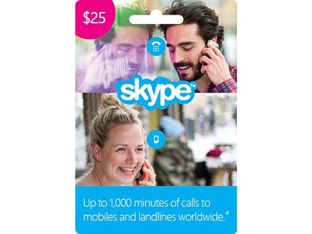 $25 Skype Prepaid Credit for $16.00 AC @ Newegg.com