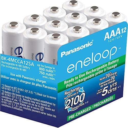12-Pack Panasonic Eneloop AAA 800 mAh Ni-MH Pre-Charged Rechargeable Batteries (BK-4MCCA12SA) for $21.99 & More + Free Shipping @ Newegg.com