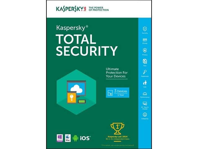Kaspersky Total Security 2016 (3 PCs - Key Card) or McAfee Antivirus Basic 2016 (1 Device) for Free After Rebate + S&H @ Newegg.com