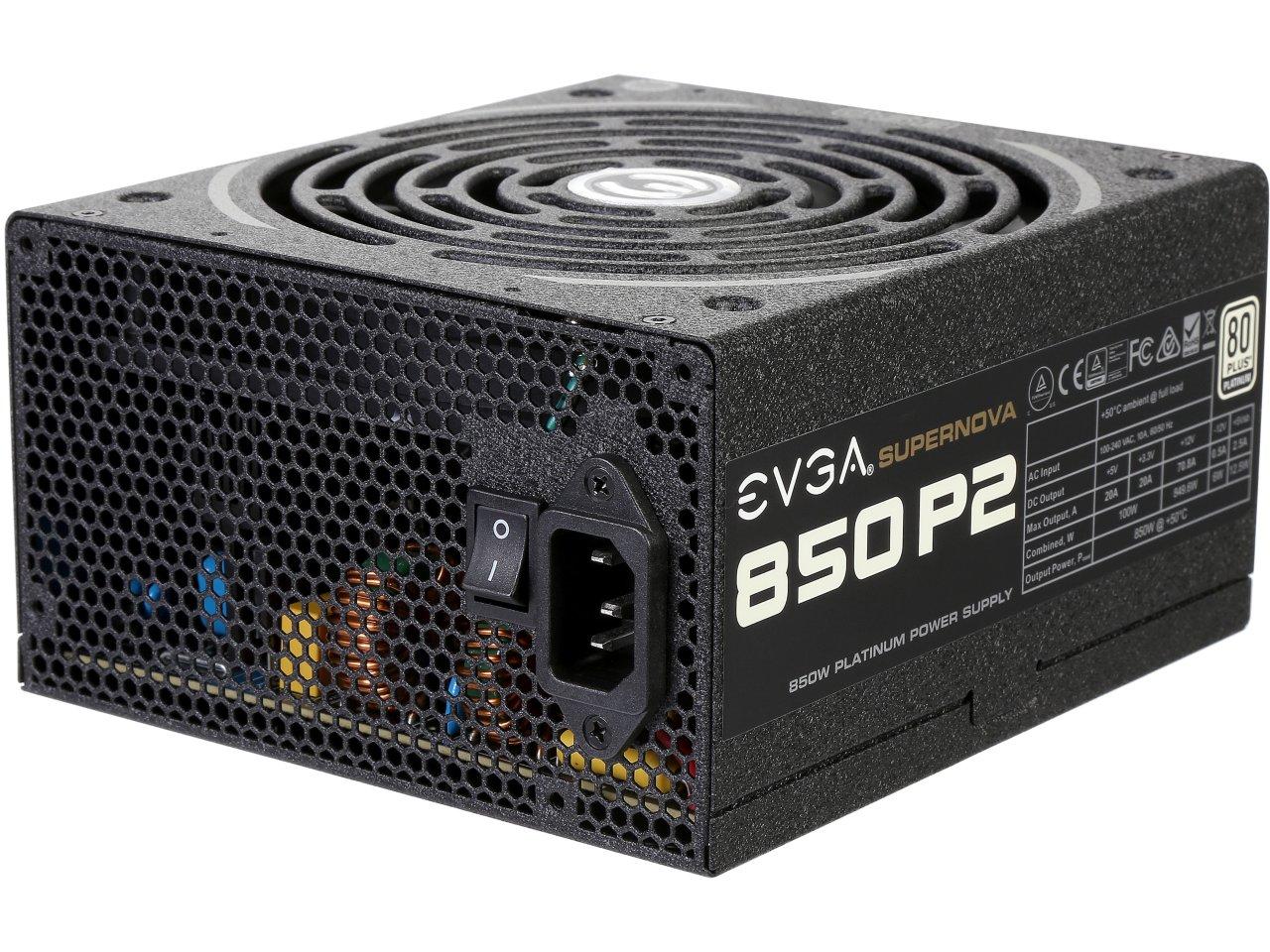 850 Watt EVGA SuperNOVA 850 P2 80 Plus Platinum Certified Full Modular Power Supply for $109.99 AR + Free Shipping @ Newegg.com