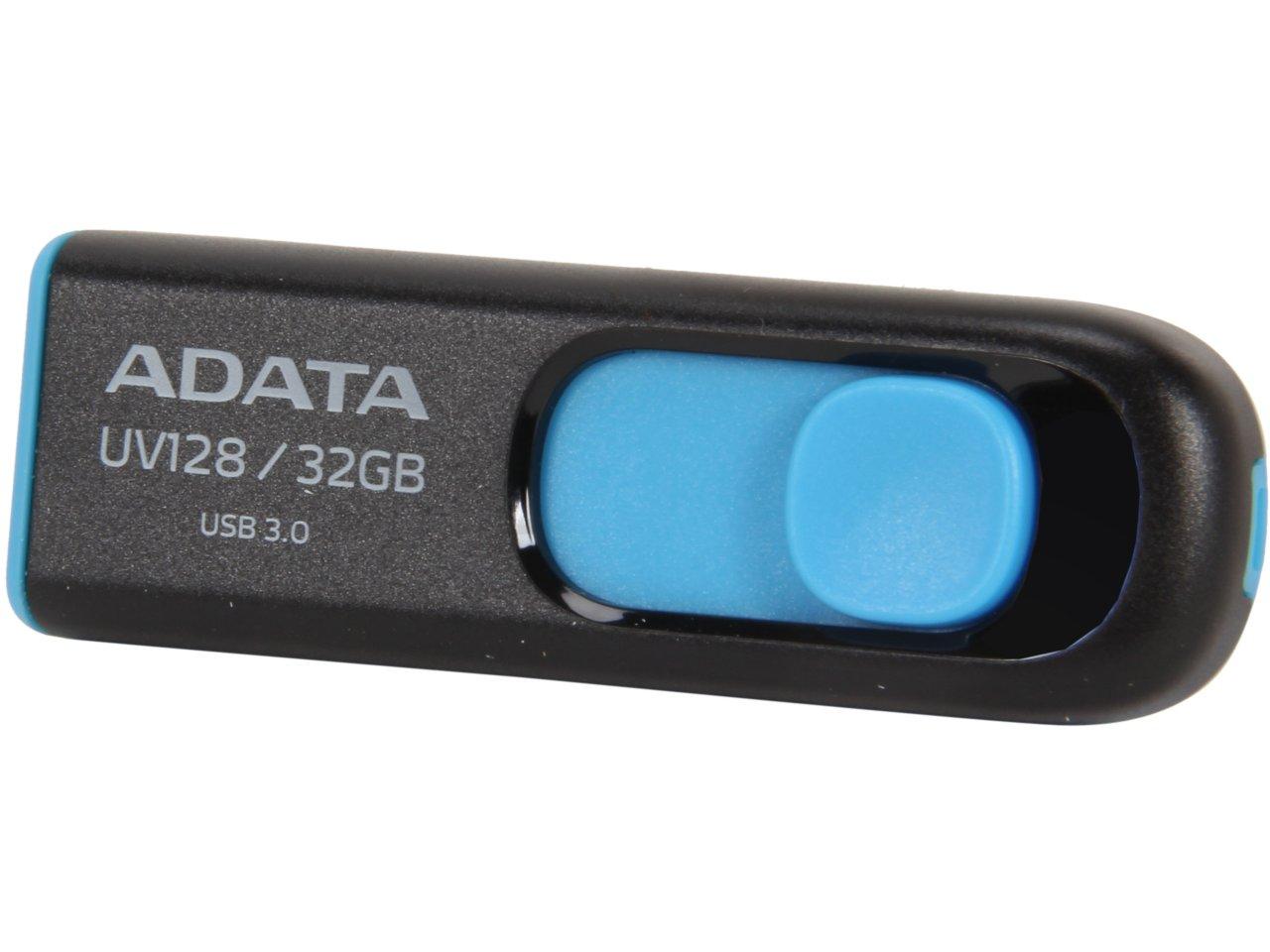 32 GB ADATA DashDrive UV128 Black & Blue USB 3.0 Flash Drive for $6.99 AC, 128 GB Silicon Power Blaze B05 Black USB 3.0 Flash Drive for $23.99 AC + S&H & More @ Newegg.com