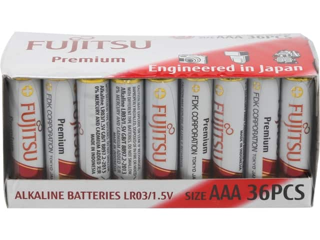 25% Off Batteries & Chargers: 36-Pack of Fujitsu AAA Premium Alkalines for $9.74 (or less), 4-Pack Fujitsu AAA 2100 Cycle Ni-MH Rechargeable Batteries for $7.99 & More @ Newegg.com