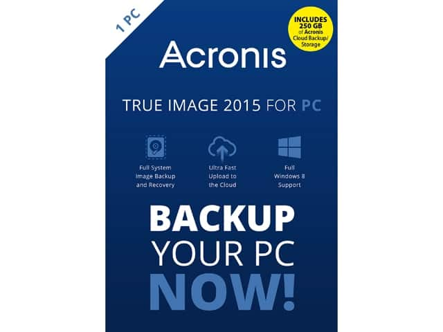 Acronis True Image 2015 with 250 GB Cloud Storage or WPS Office 10 Business Edition (1 PCs / 1 Year) + Total Defense PC TuneUp for Free After Rebate + S&H @ Newegg.com