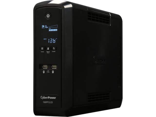 1500VA (900W) CyberPower PFC Pure Sine Wave Mini-Tower UPS System with LCD Panel (CP1500PFCLCD) for $149.99 (or less) + Free Shipping @ Newegg.com