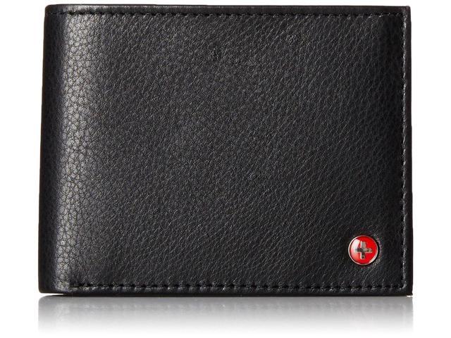 Alpine Swiss Men's 2-Pocket Billfold Wallet with Flip-Up ID Window (SW524-BLK) for $4.99 + Free Shipping @ Newegg.com
