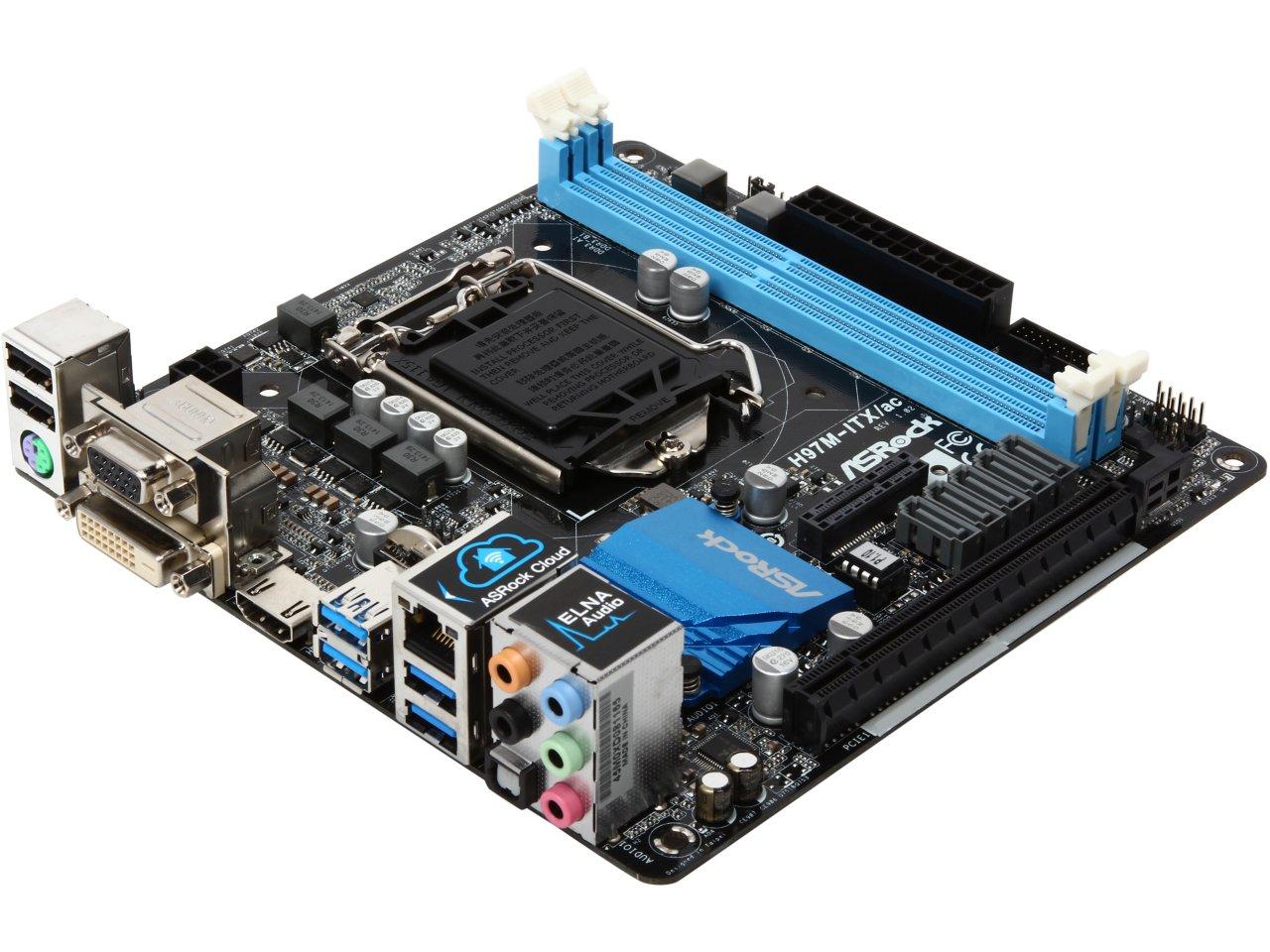 ASRock H97M-ITX/ac LGA 1150 H97 Mini ITX Intel Motherboard for $55.99 AR, MSI Z170A SLI LGA 1151 Z170 ATX Intel Motherboard for $87.99 AR + S&H & More @ Newegg.com