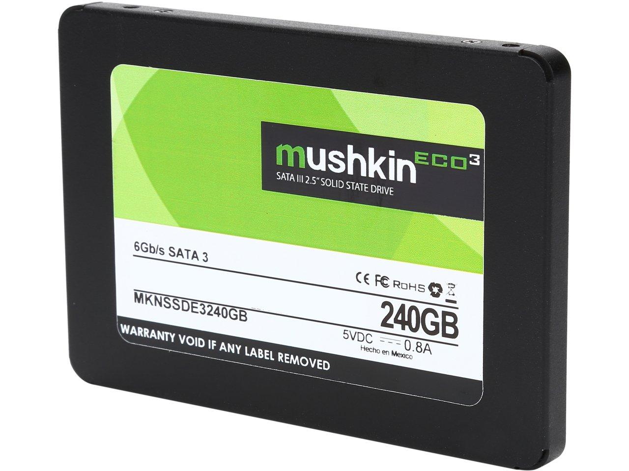 """240 GB Mushkin Enhanced ECO3 2.5"""" SATA III TLC Internal SSD for $54.99 AC, 1 TB Mushkin Enhanced Reactor 2.5"""" SATA III MLC Internal SSD for $209.99 AC & More @ Newegg.com"""