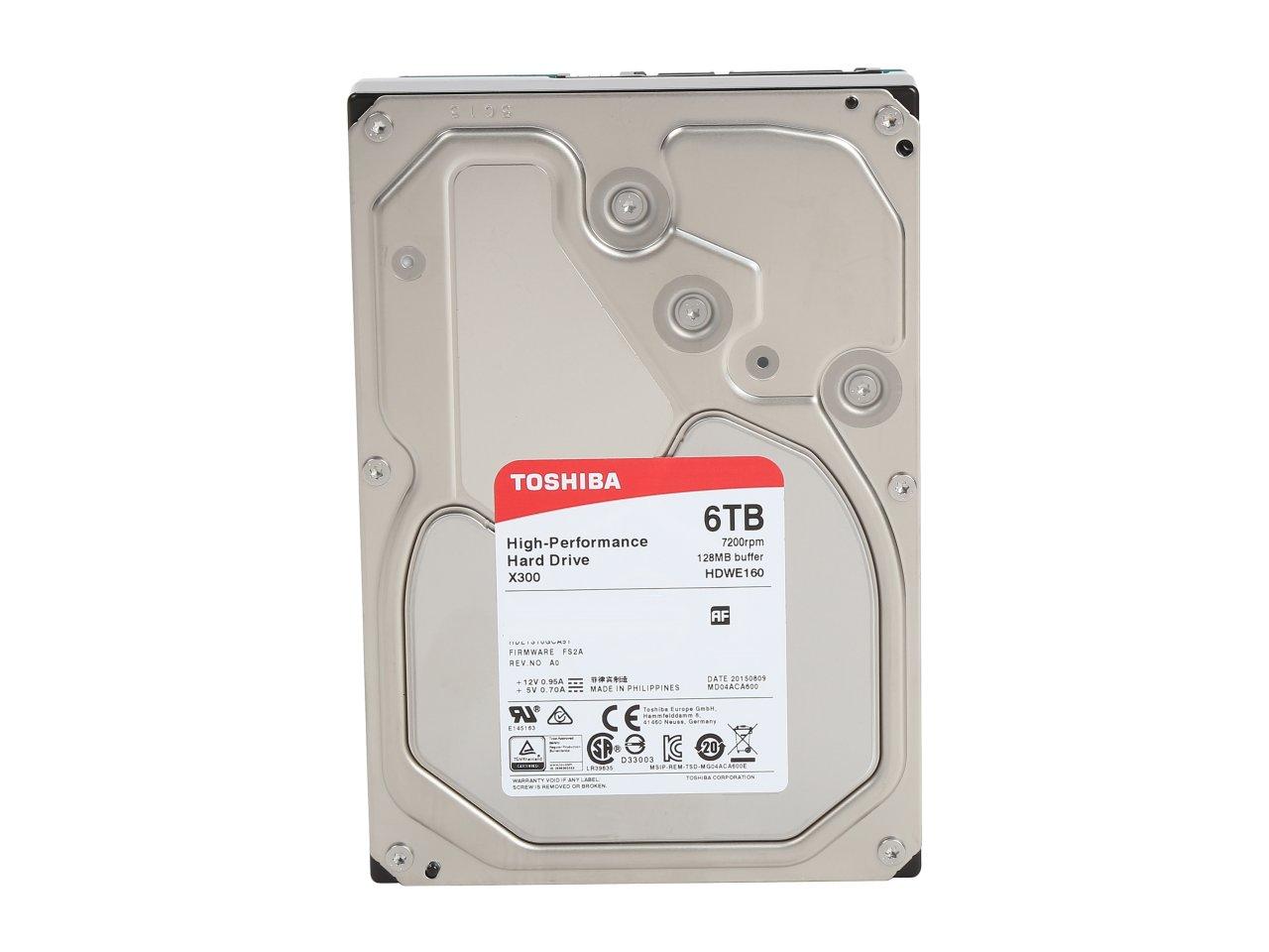 "6 TB Toshiba X300 3.5"" 7200 RPM SATA III Internal Hard Drive Retail Kit for $174.99 AC, 240 GB ADATA Premier SP550 2.5"" SATA III TLC Internal SSD for $58.99 & More @ Newegg.com"