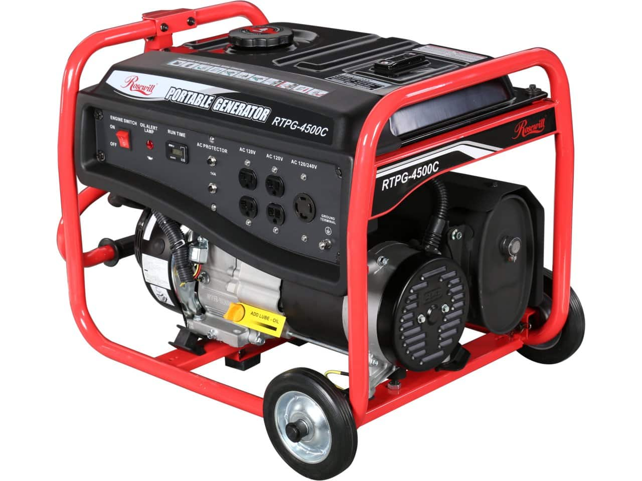Rosewill 3850W (3300W Running) 7.5 HP CARB Compliant Gas Powered Portable Power Generator with Wheel Kit for $119.99 AR + Free Shipping @ Newegg.com