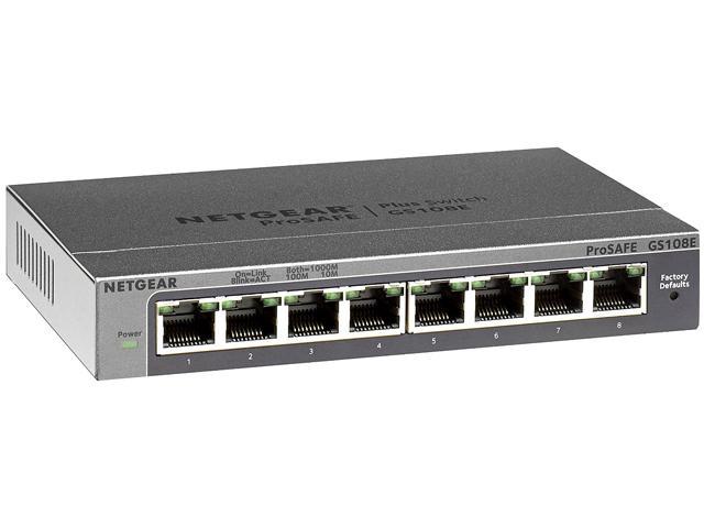 8-Port Netgear ProSAFE GS108E Gigabit Web Managed (Plus) Switch for $19.99 AR, ASRock G10 AC2600 Dual-Band Wireless Gigabit Gaming Router for $139.99 AR & More @ Newegg.com