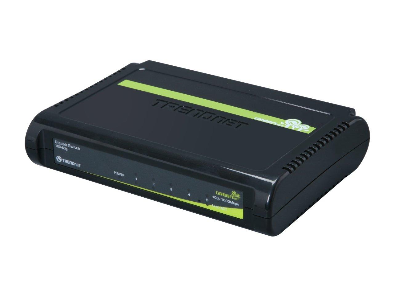 5-Port TRENDnet GREENnet Unmanaged Gigabit Switch (TEG-S5g) for $9.99 + Free Shipping @ Newegg.com