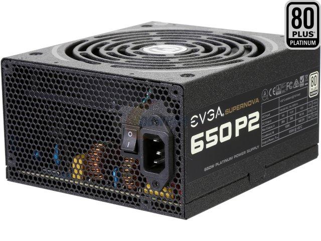 650W EVGA SuperNOVA 650 P2 80+ Platinum Full Modular Power Supply for $79.99 AR, 650W Corsair CX650M 80+ Bronze Modular Power Supply for $45.99 AR & More @ Newegg.com