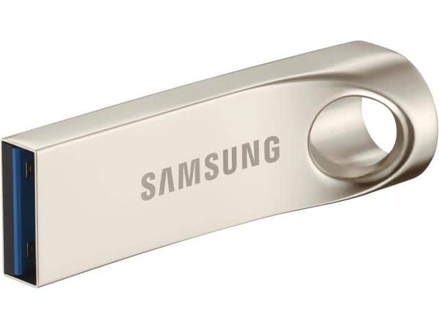 32 GB Samsung Bar Metal USB 3.0 Flash Drive for $8.99 AC, 64 GB Samsung Bar Blue USB 3.0 Flash Drive for $13.99 AC + S&H & More @ Newegg.com