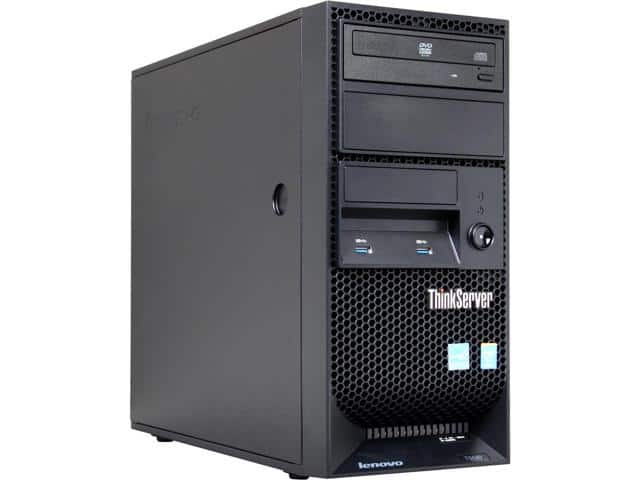 Lenovo ThinkServer TS140 Tower Server with Intel Xeon E3-1226 v3 3.3 GHz Quad-Core CPU, 4GB DDR3-1600, 280W PSU, DVD-RW Drive for $299.99 AC + S&H @ Newegg.com