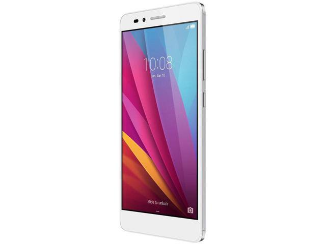 """16 GB Huawei Honor 5X 5.5"""" 1080p 4G LTE Unlocked GSM Android Silver Smartphone + White Flip Cover Case  for $139.99 AC + Free Shipping @ Newegg.com"""